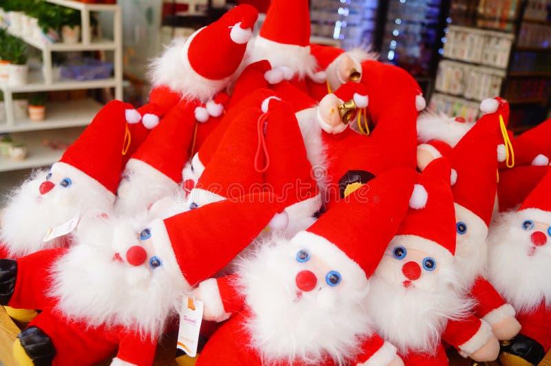 Juguete rojo de Santa Claus fotos de archivo libres de regalías
