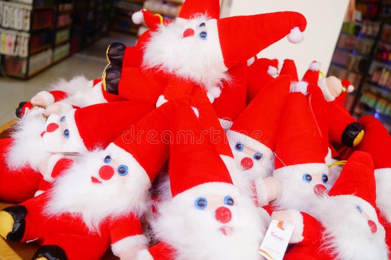 Juguete rojo de Santa Claus fotos de archivo