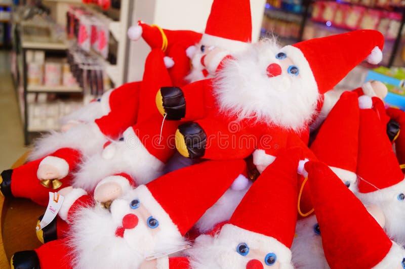 Juguete rojo de Santa Claus fotografía de archivo