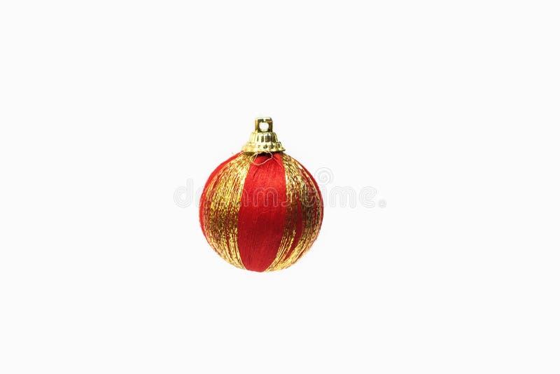 Juguete rojo del árbol de navidad de la Navidad fotos de archivo