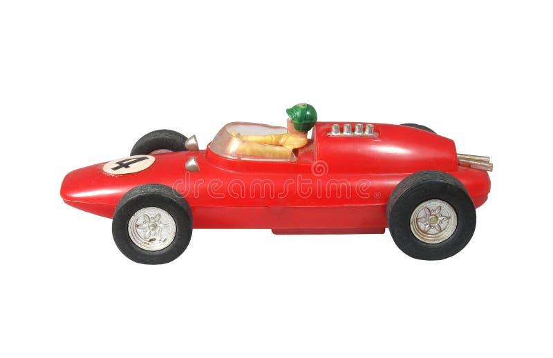 Juguete rojo del coche de carreras/rojo del Fórmula 1 imagen de archivo