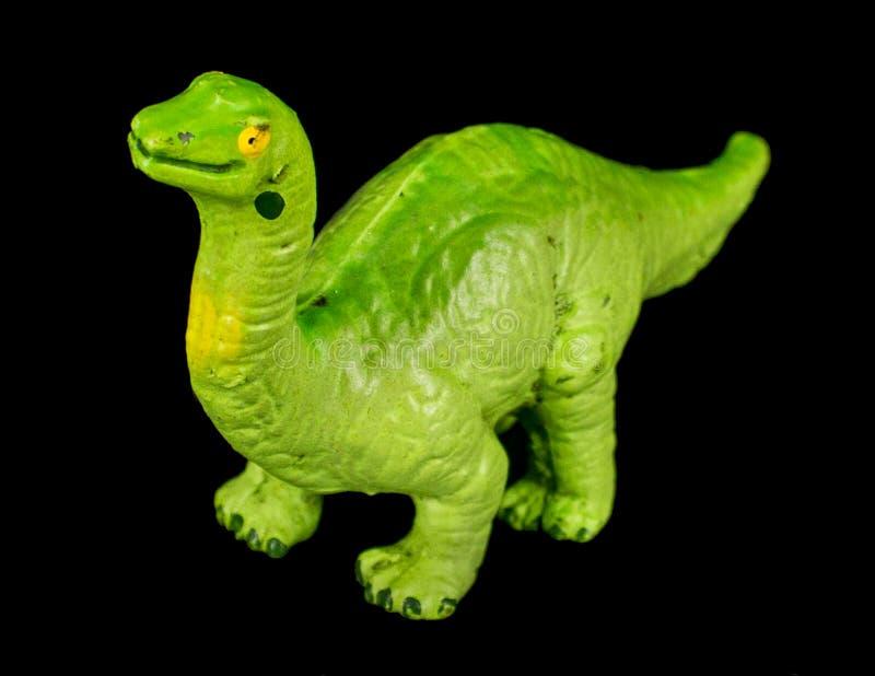 Juguete verde del dinosaurio de Longneck imagen de archivo libre de regalías