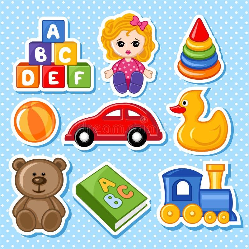 juguetes stock de ilustración