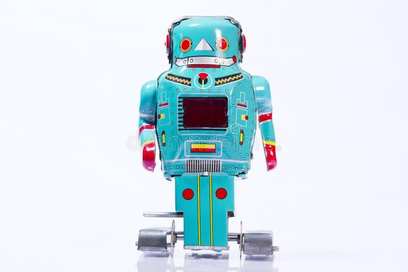 Juguetes clásicos del robot foto de archivo