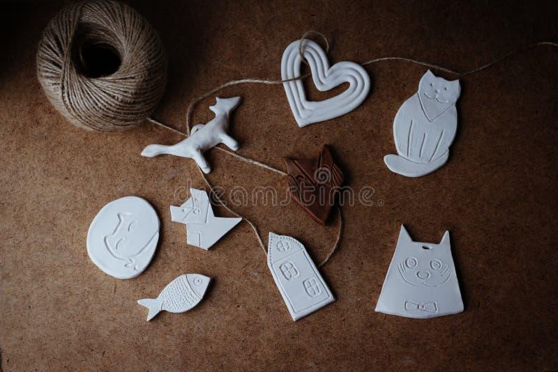 Juguetes de cerámica imagen de archivo
