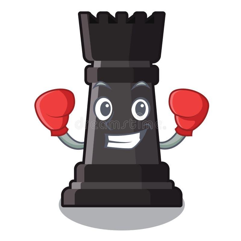 Juguetes de encajonamiento del ajedrez del grajo sobre la tabla de la historieta stock de ilustración