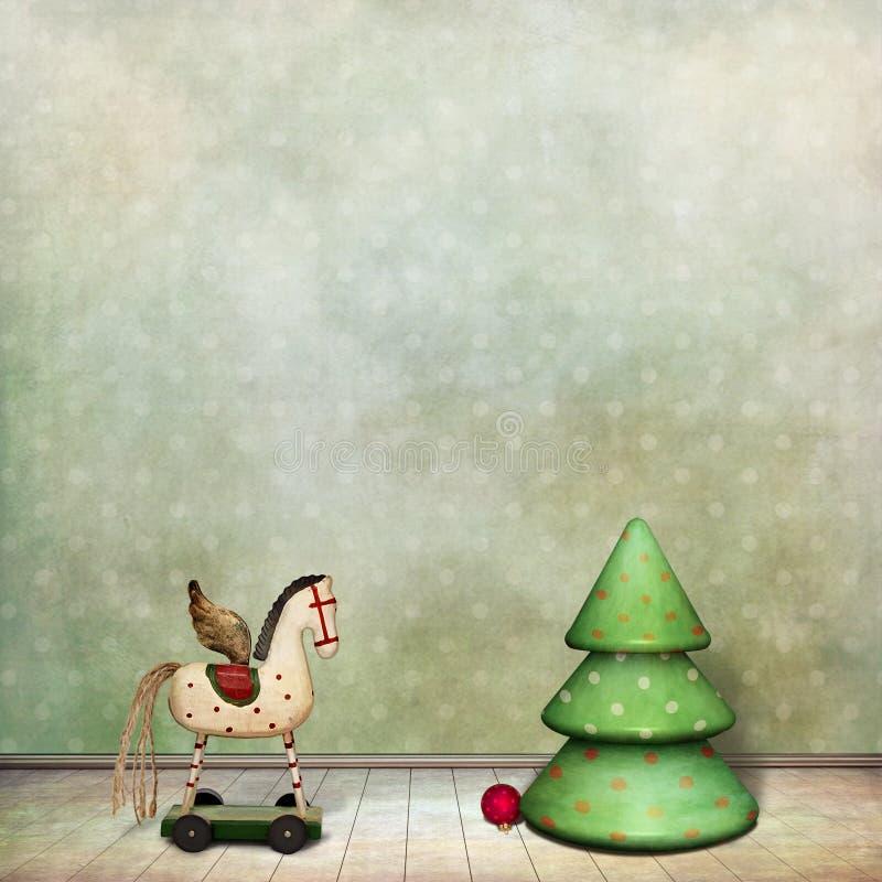 Juguetes de la Navidad ilustración del vector
