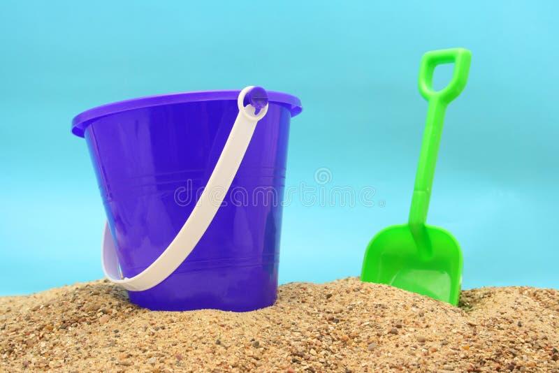 Juguetes de la playa imagen de archivo