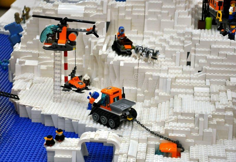 Juguetes de Lego fotografía de archivo