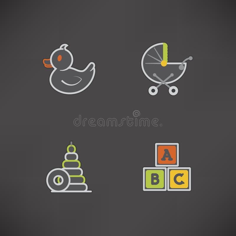 Juguetes de los niños libre illustration