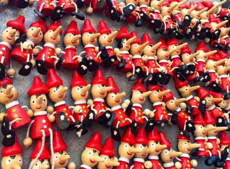 Juguetes de Pinocchio fotografía de archivo