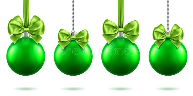 juguetes del árbol de abeto 3d con el arco por 2019 Años Nuevos, Navidad ilustración del vector