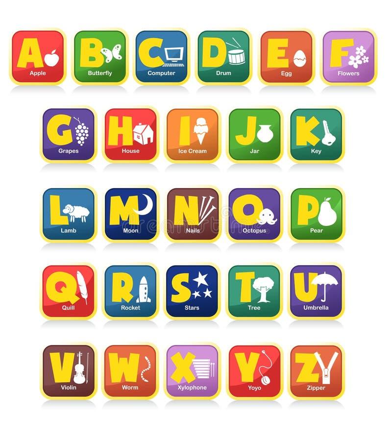Juguetes del alfabeto ilustración del vector