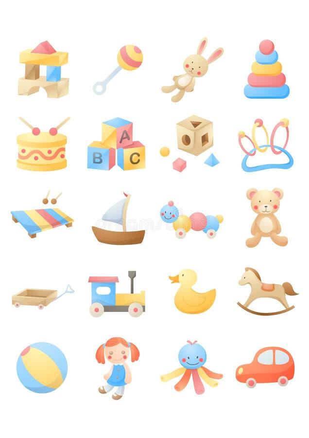 Juguetes del bebé stock de ilustración