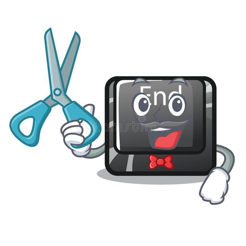 Juguetes del botón del extremo del peluquero en mascota de la forma ilustración del vector