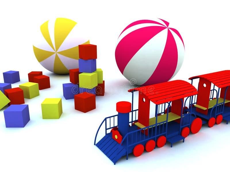 Juguetes del niño stock de ilustración