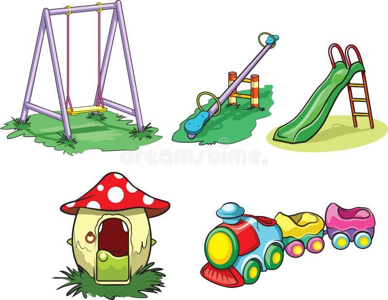 Juguetes del parque ilustración del vector