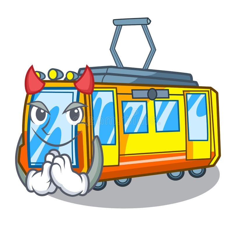 Juguetes del tren eléctrico del diablo en mascota de la forma ilustración del vector