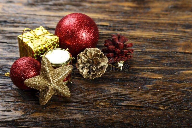 Juguetes para el árbol de navidad imagen de archivo