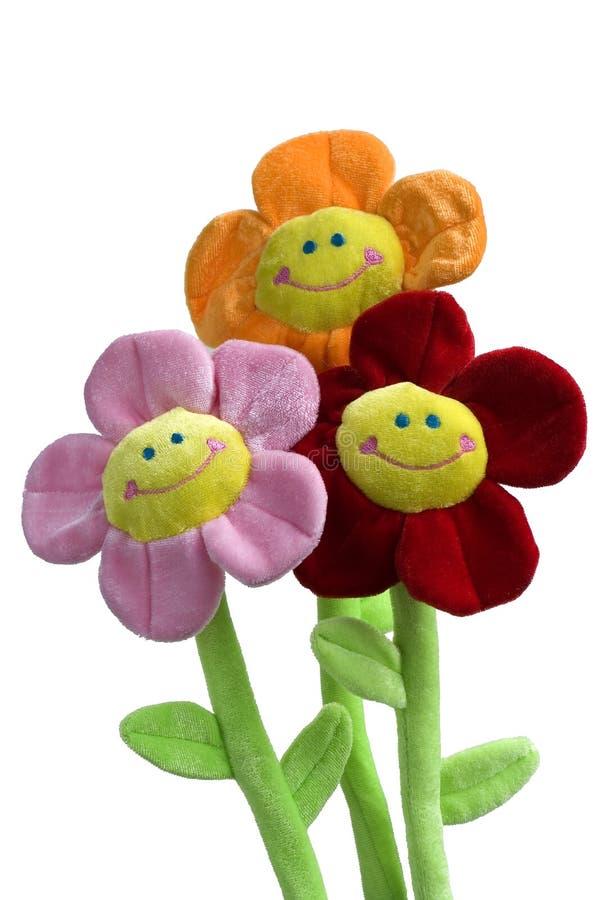 Juguetes sonrientes de la flor fotos de archivo