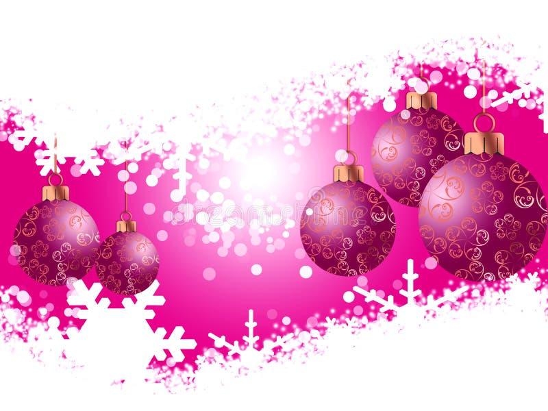 Juguetes y copos de nieve de la Navidad libre illustration
