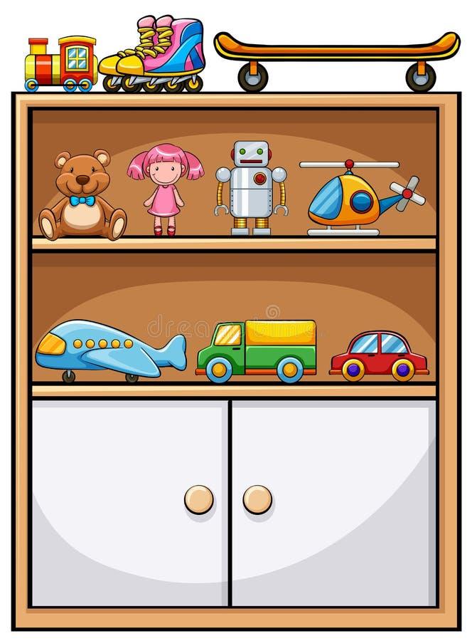 Juguetes y estante libre illustration