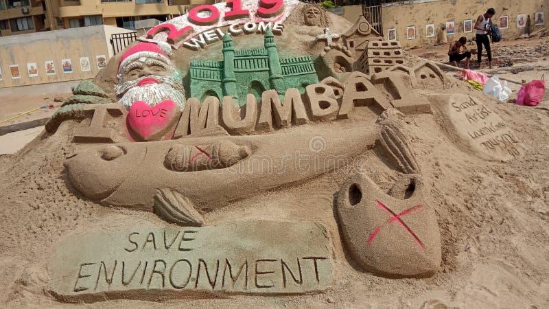 Juhu est un voisinage haut de gamme de Mumbai photos libres de droits