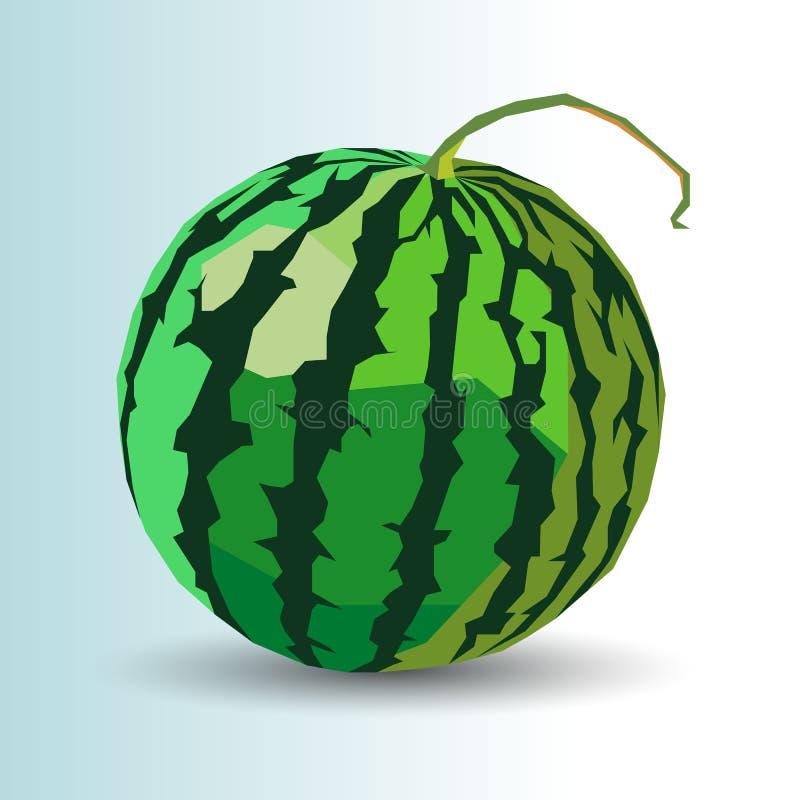Juic organico della frutta dell'anguria dell'alimento della fetta fresca matura dolce di vettore illustrazione di stock