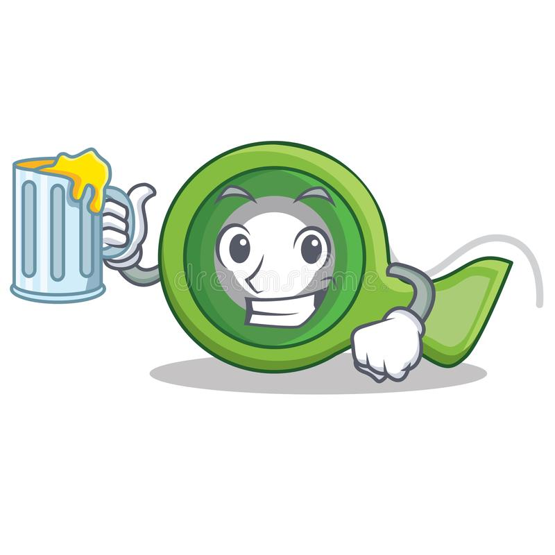 With juice adhesive tape character cartoon stock illustration