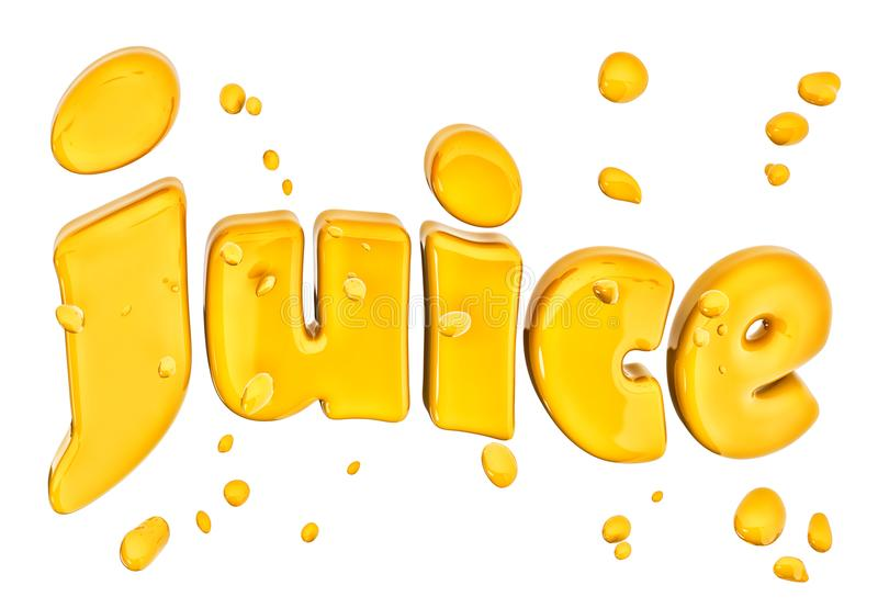 Juice advertising lettering, isolated 3d rendering. Best juice advertising, abstract background lettering, isolated 3d rendering vector illustration