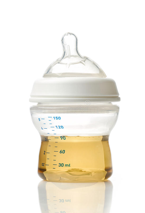Download Juice in baby bottle stock photo. Image of preparation - 83721940