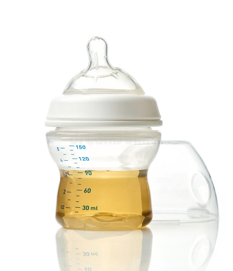 Download Juice In Baby Bottle Stock Photo - Image: 83721942