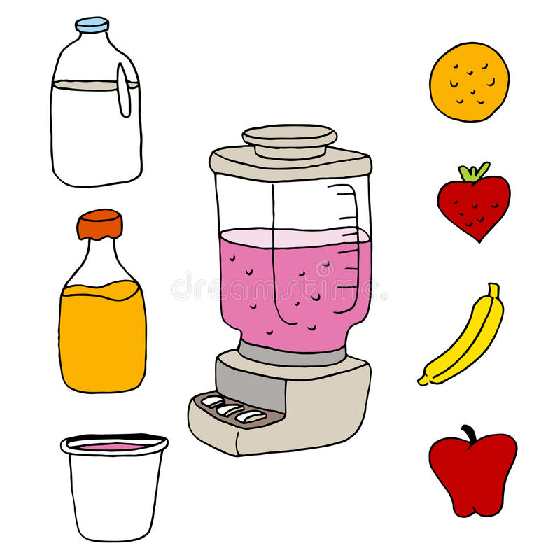 Juice Blender Item Set libre illustration