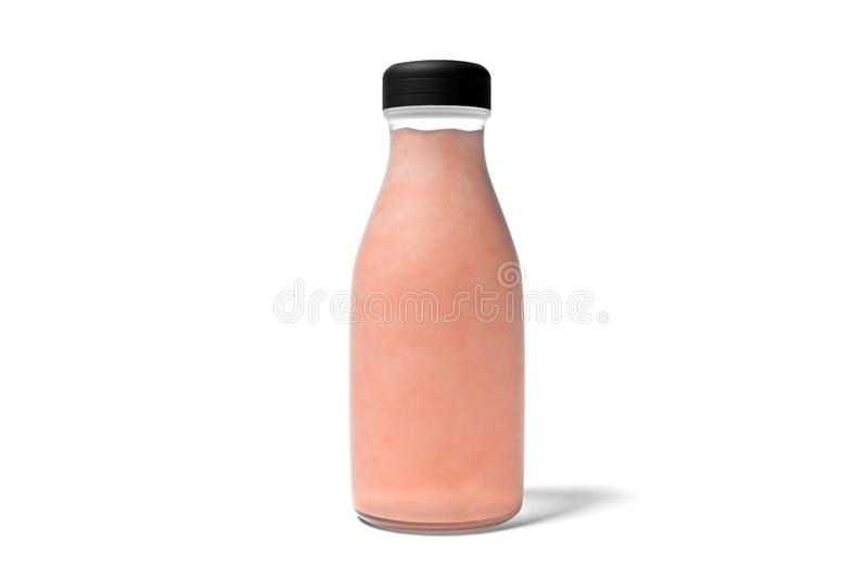 Juice Bottle with Fruit Mockup stock illustration