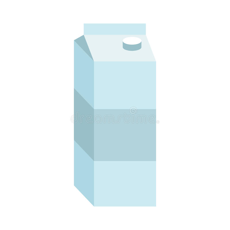 Juice box. Paper packaging for milk isolated royalty free illustration