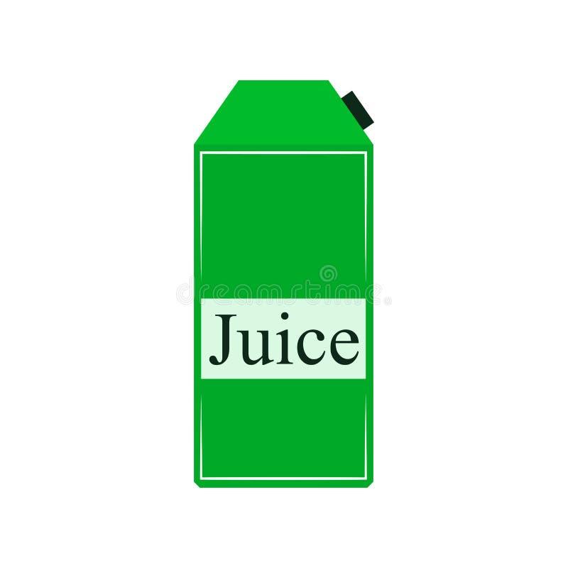 Juice carton box. Vector illustration. stock illustration