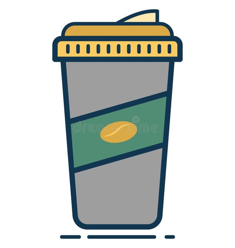 Juice Cup Line Vector Isolated-aangepast en editable Pictogram vector illustratie
