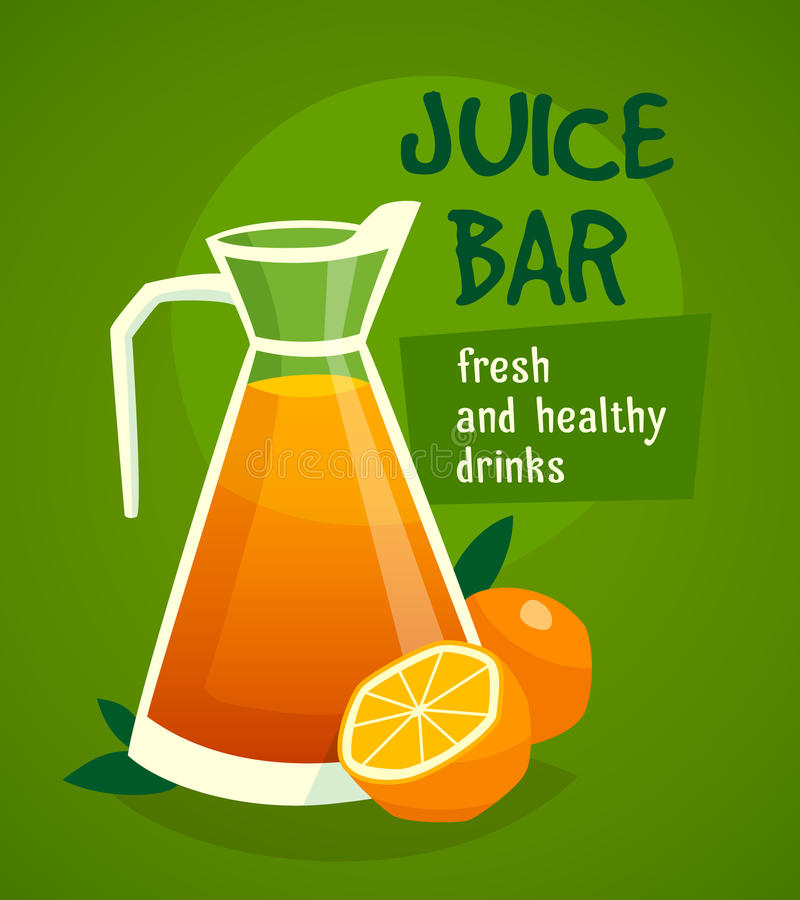 Juice Design Concept anaranjado stock de ilustración