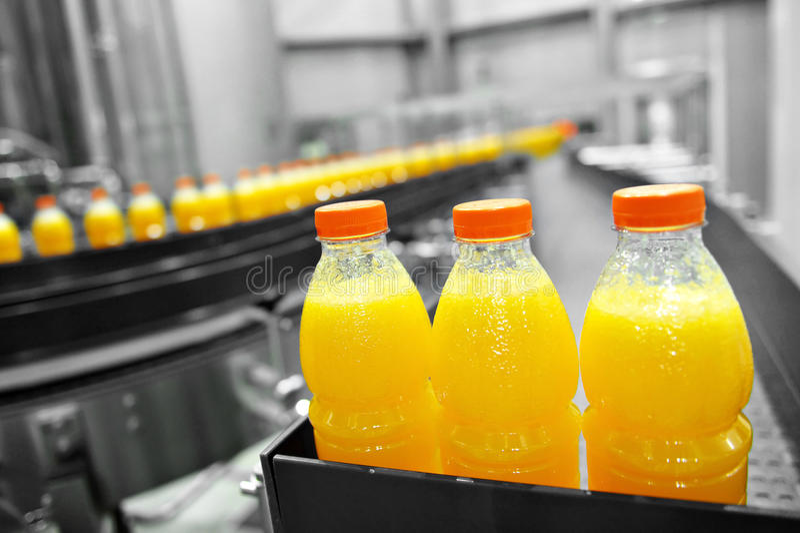Juice Factory orange image stock