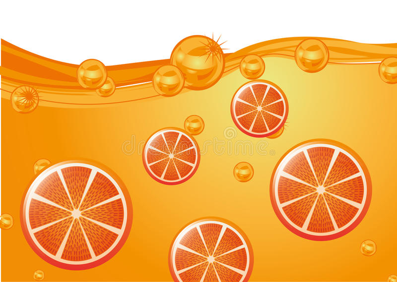 Juice fruit stock illustration