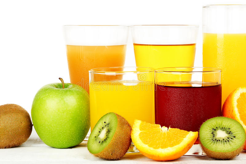 Juice and fruit royalty free stock images