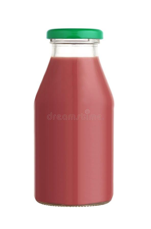 Juice in a glass bottle stock photo