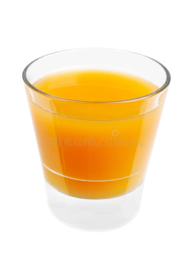 Juice in a glasses isolated on white royalty free stock image