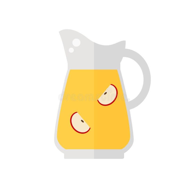 Juice jug icon. vector illustration