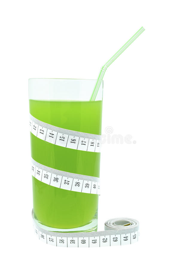 Juice With Kiwi And Meter Royalty Free Stock Photography