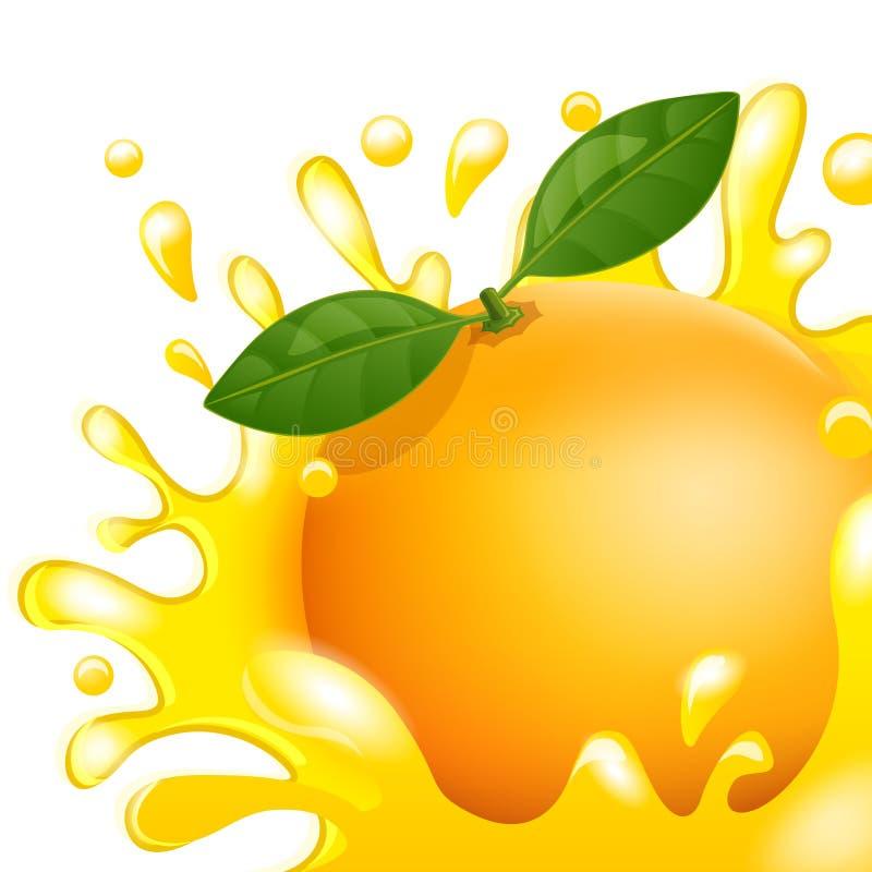 Juice Orange ilustração stock
