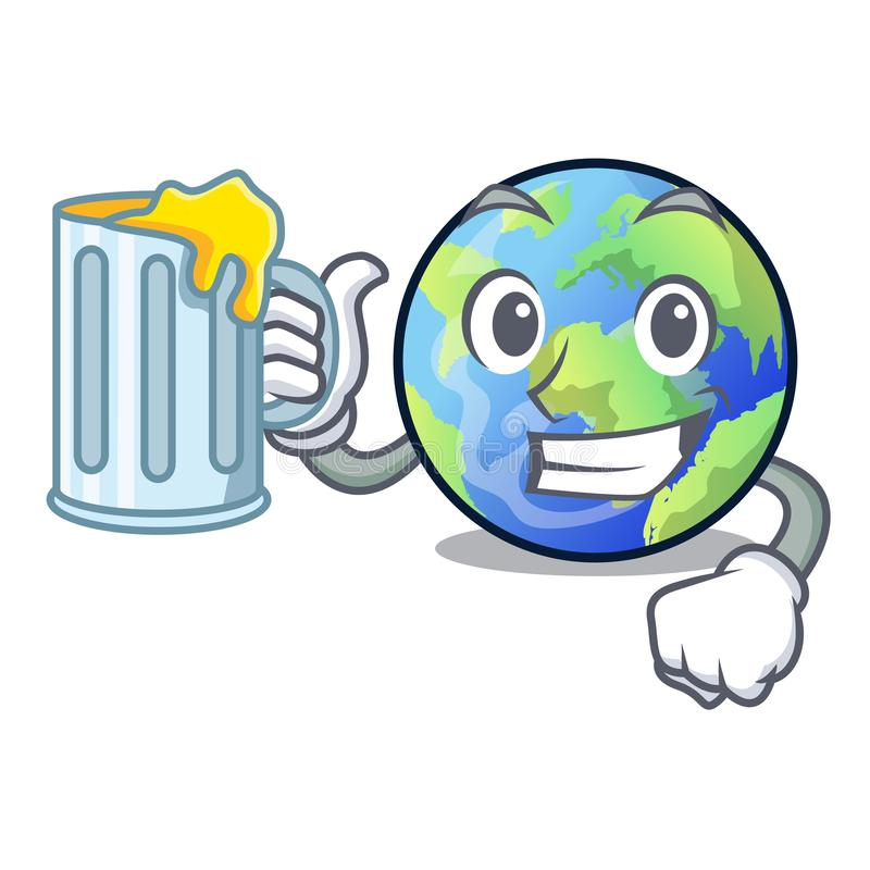 With juice picture of the cartoon langait earth. Vector illustration vector illustration