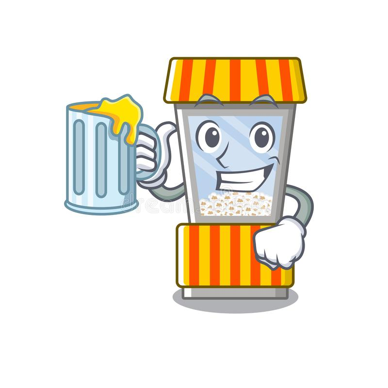 With juice popcorn vending machine is formed cartoon. Illustration vector royalty free illustration
