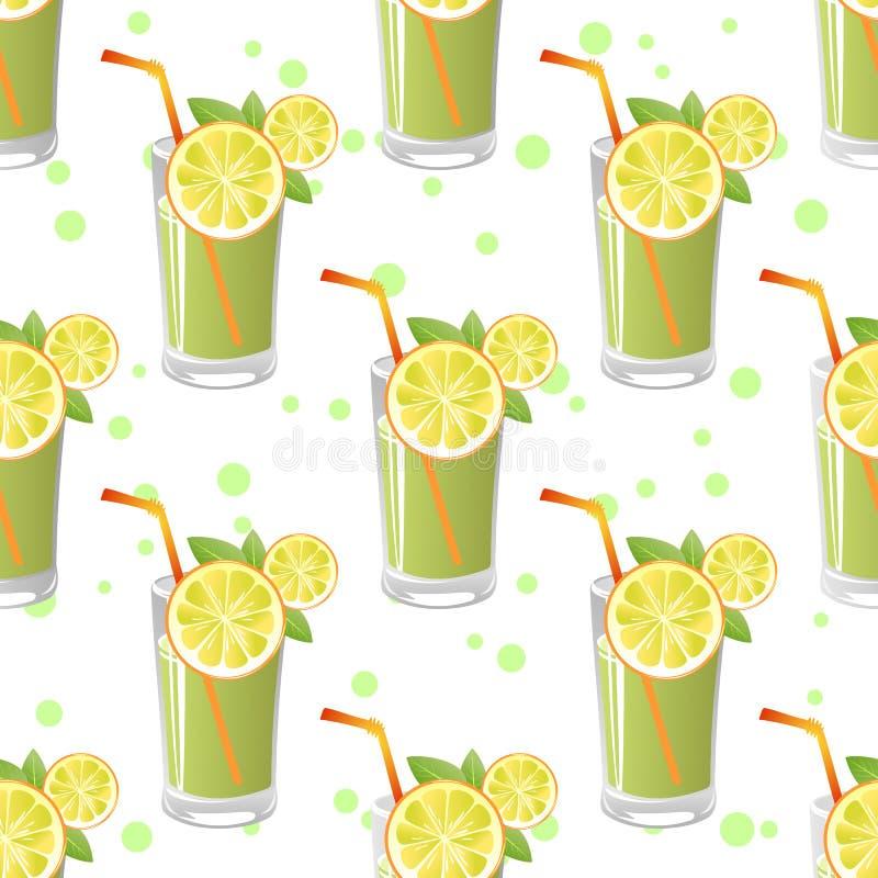 Juice Seamless Pattern stock illustratie