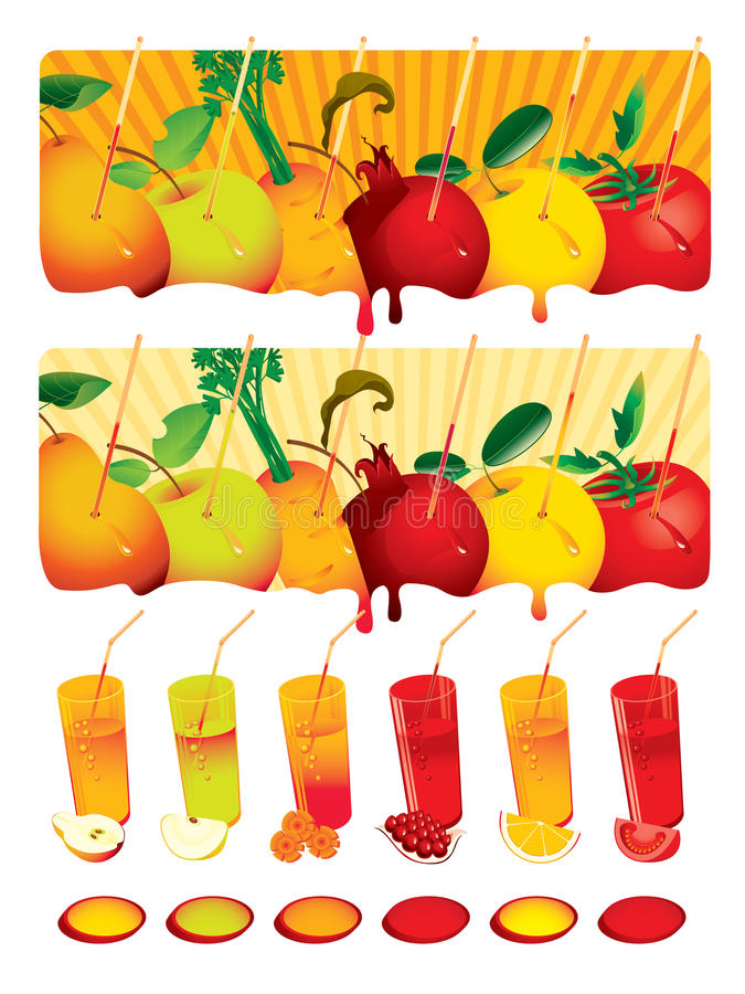 Juice set vector illustration